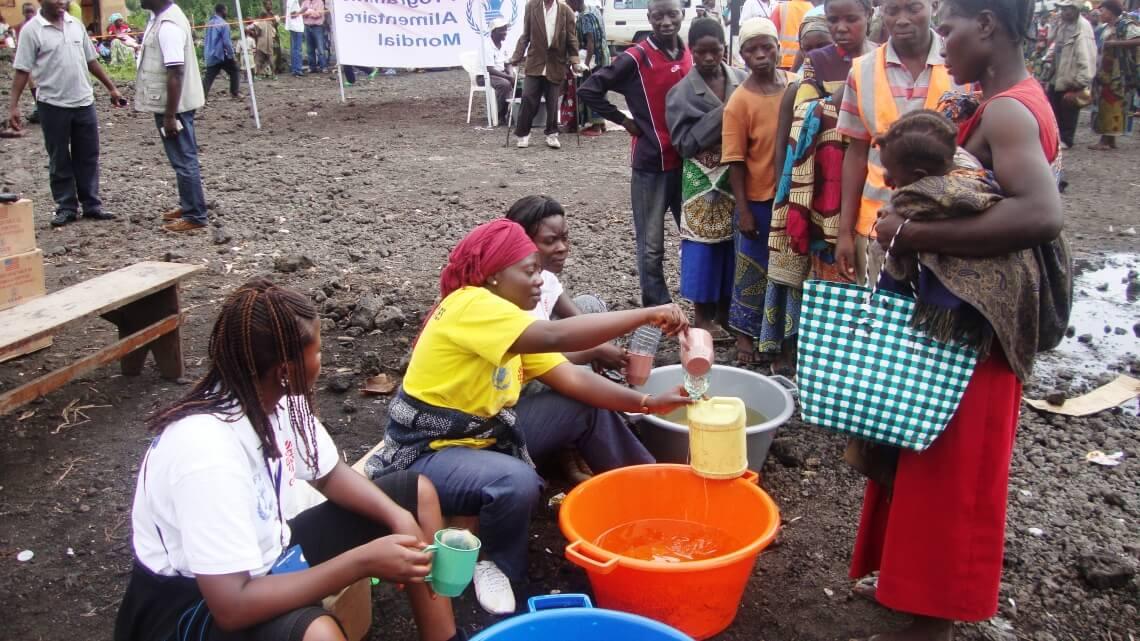 Caritas International  De l'aide humanitaire à 2.578 familles déplacées à Ngangi