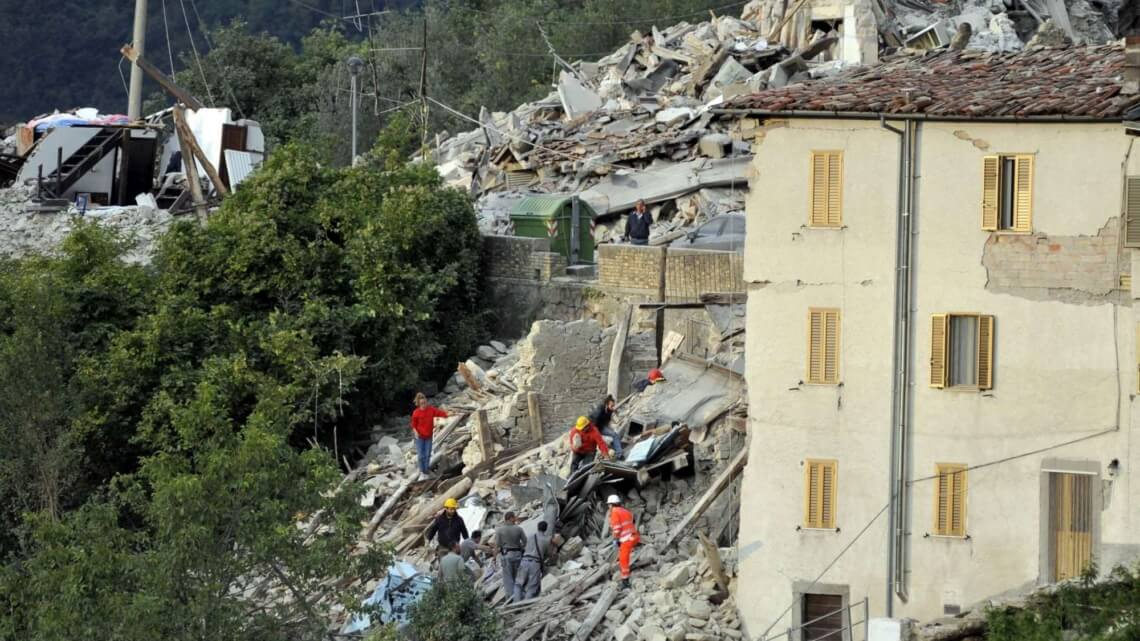 Caritas International  Tremblement de terre en Italie