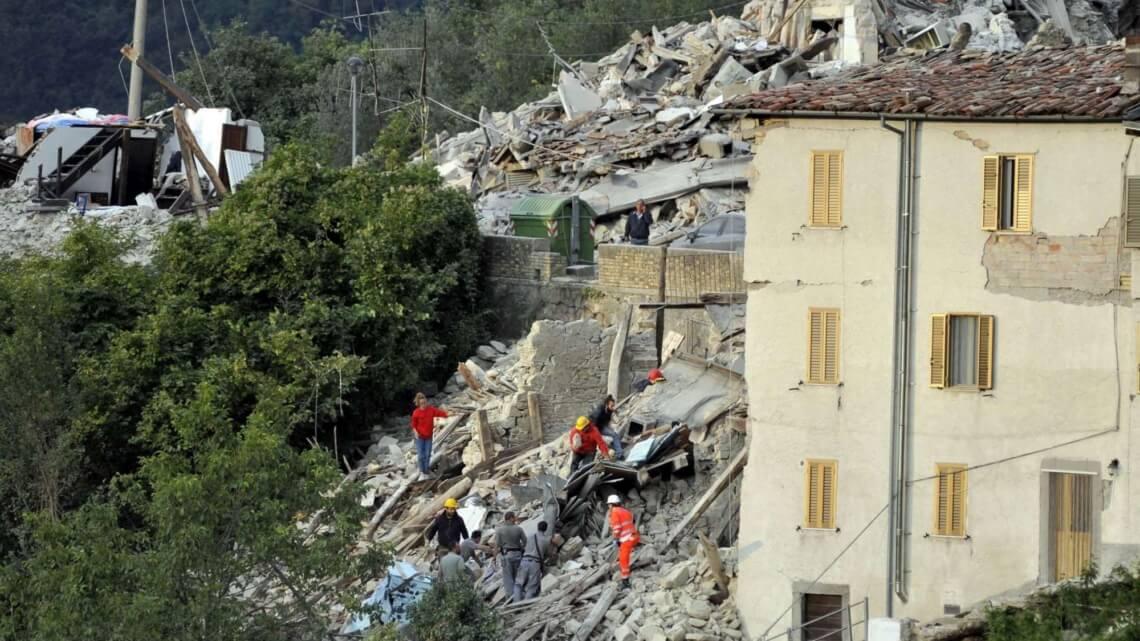Caritas International Aardbeving in Italië