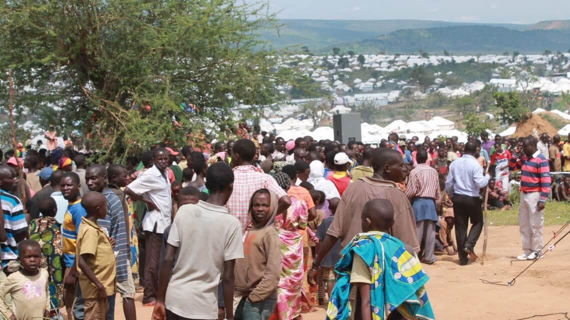 Caritas International Project om vluchtelingen uit Burundi Mahama kamp te helpen