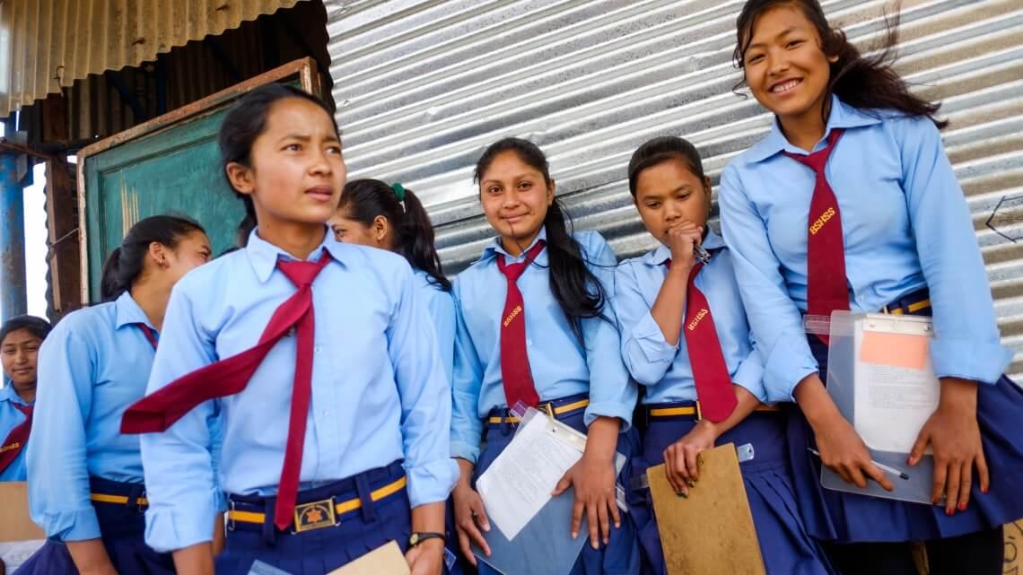 Caritas International Samen scholen bouwen in Sindhupalchok