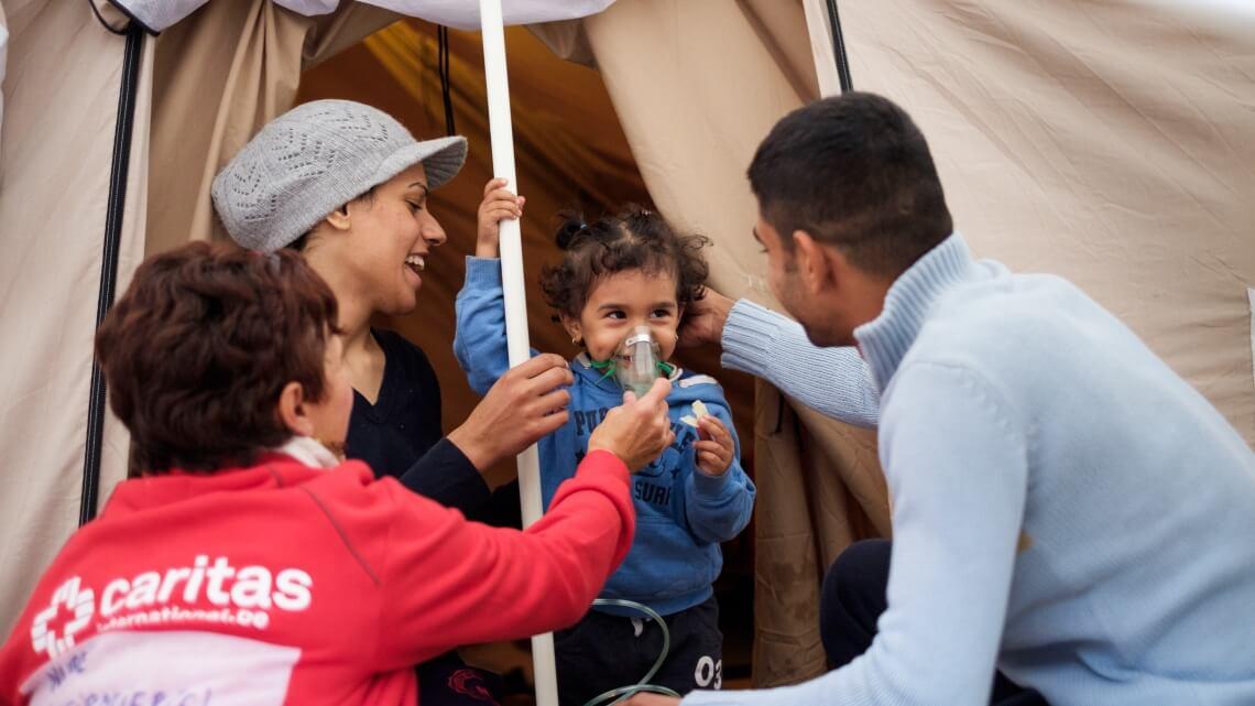 Caritas International  A poignant story behind each arrival in Lesbos