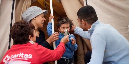 Caritas International A poignant story behind each arrival in Lesbos