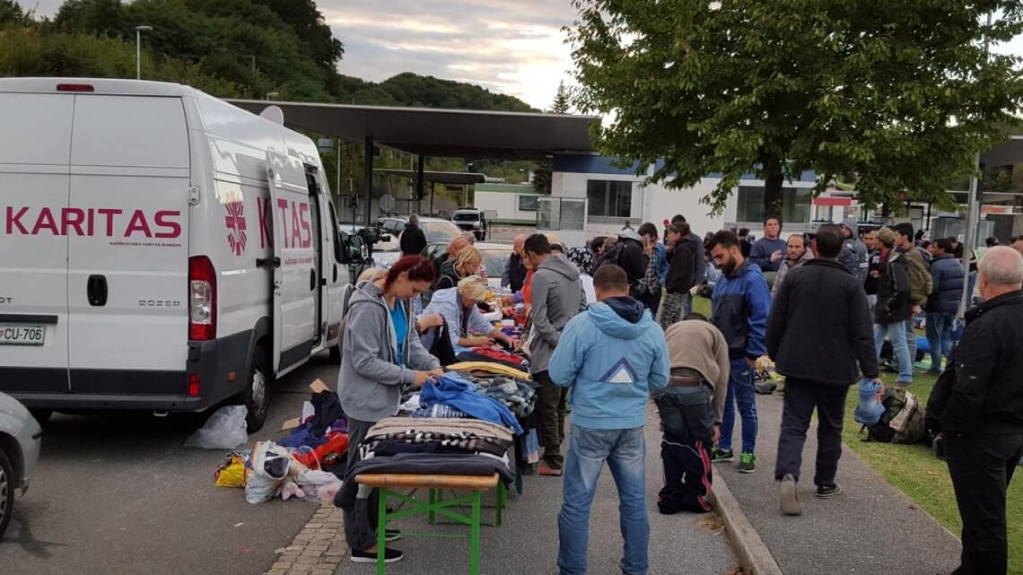 Caritas International  Solidarity on the route of all dangers
