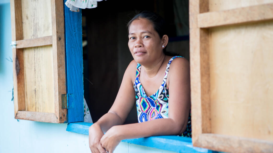 Caritas International Helping the victims of typhoon Haiyan (Philippines) with better living conditions & resilience ability