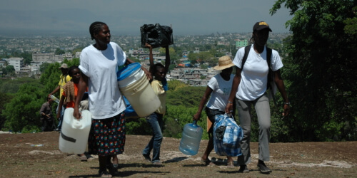 Caritas International Noodhulp en heropbouw na de aardbeving