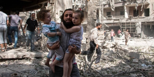 Caritas International Steun Aleppo, steun de menselijkheid