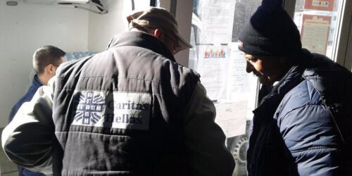 Caritas International Bijtende koude in Griekenland en de Balkan