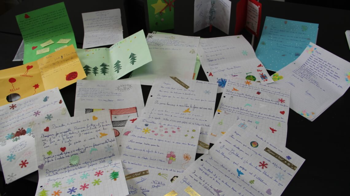 Caritas International Noël en exil : Des lettres magnifiques sont parties pour le Liban !