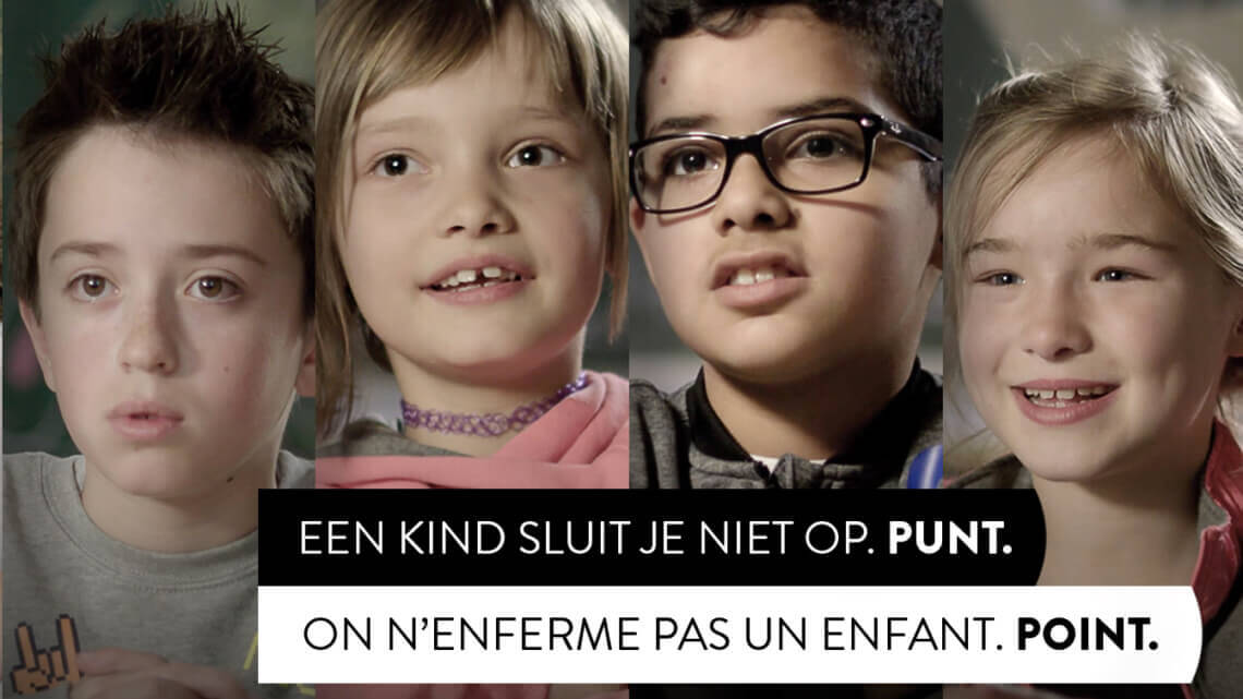 Caritas International On n'enferme pas un enfant. Point.