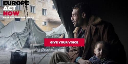 Caritas International Belgique «Europe act now»: donnez une voix aux réfugiés syriens