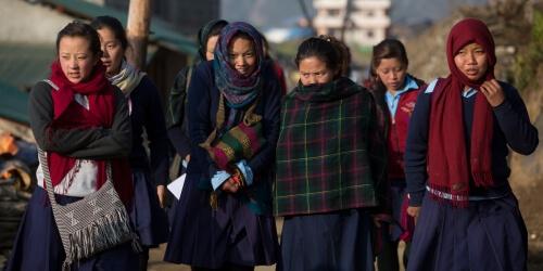 Caritas International België Heropbouw van scholen in Sindhupalchok