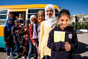 At the school in Fuhais, Balqa Syrian children get non-formal education
