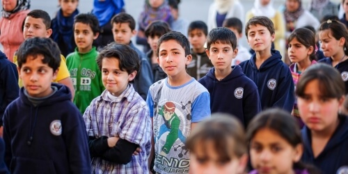 Caritas International Belgique Les écoles ne peuvent plus faire face à l'afflux de réfugiés au Liban et en Jordanie