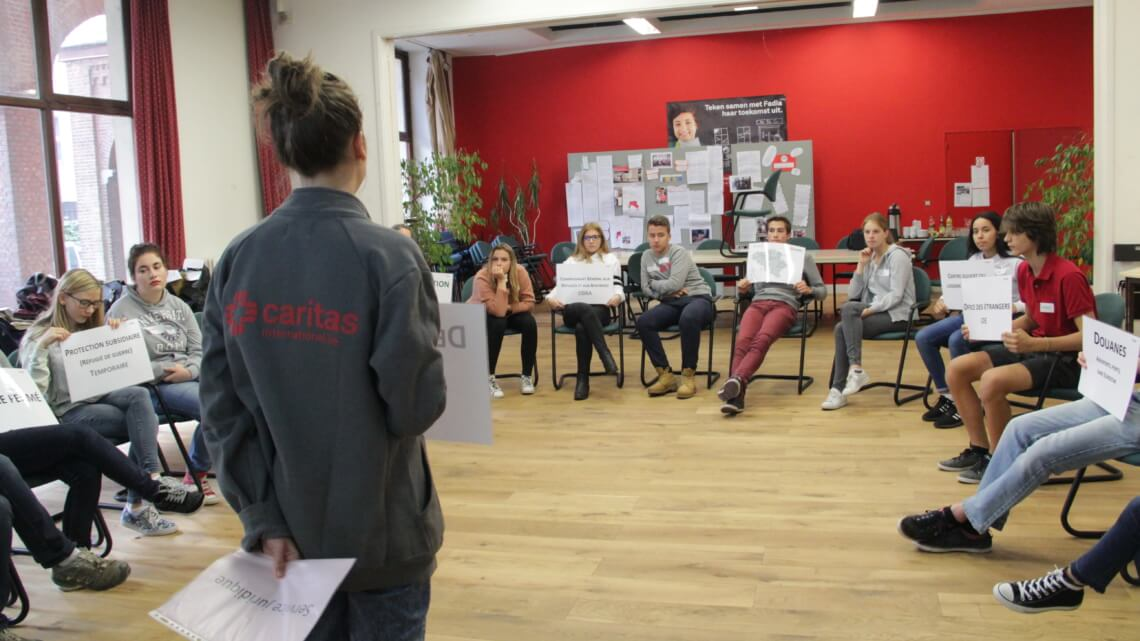Caritas International België Workshop – Between 2 worlds