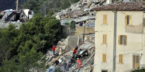 Caritas International België Aardbeving in Italië