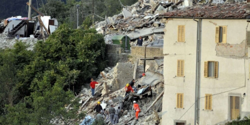 Caritas International Belgique Tremblement de terre en Italie