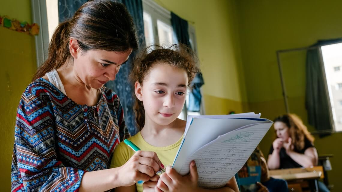 Caritas International België Huiswerkklassen voor kansarme Libanese kinderen en vluchtelingen (Beyrouth)