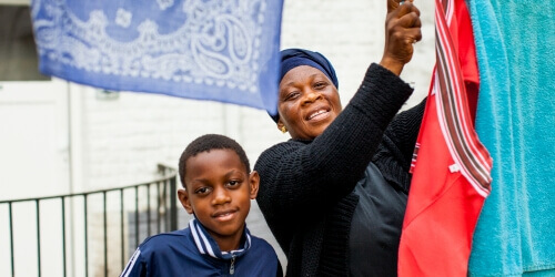 Caritas International Belgium Louvranges: Follow-up and support