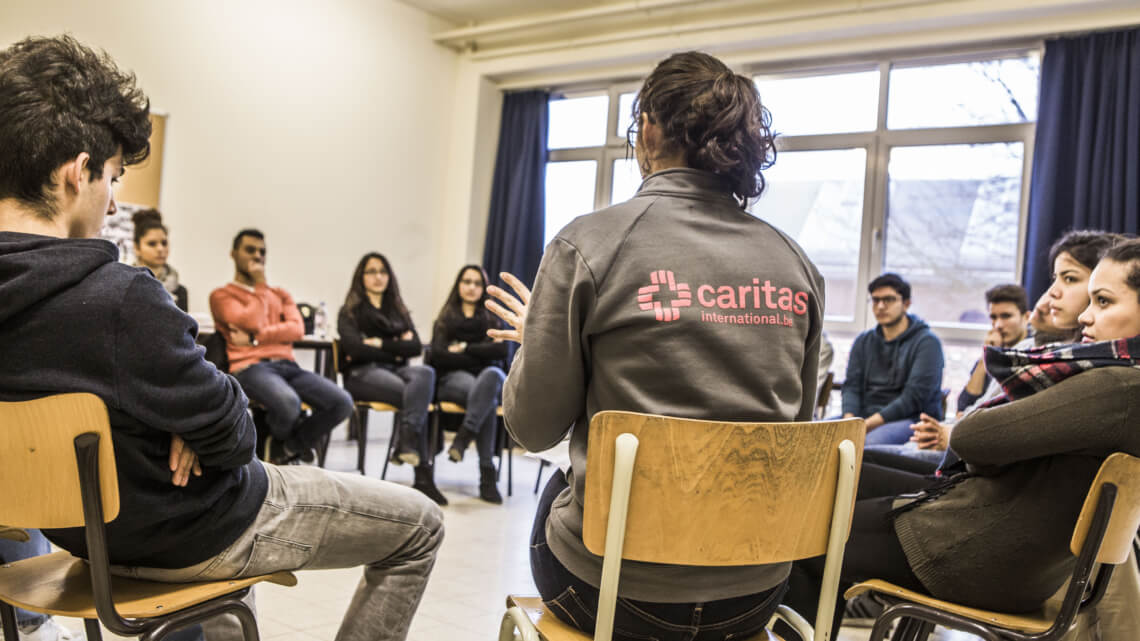 Caritas International Belgique Atelier – Between 2 Worlds