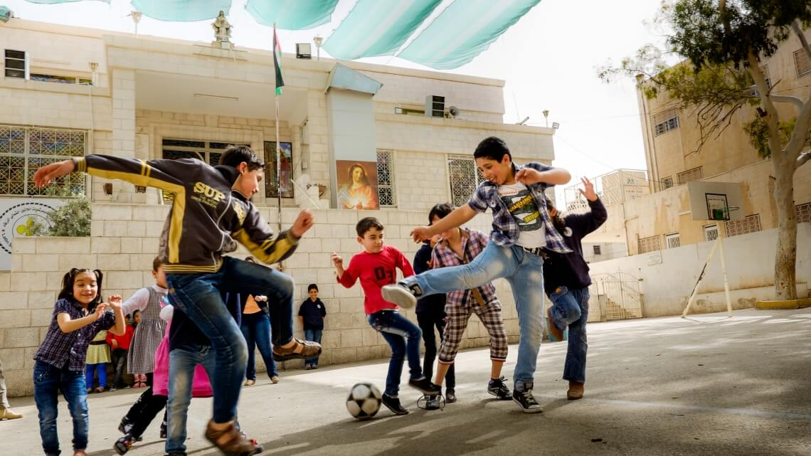 Caritas International Belgique En Jordanie, la mise en place de « Child Friendly Spaces », des locaux accueillants pour les enfants