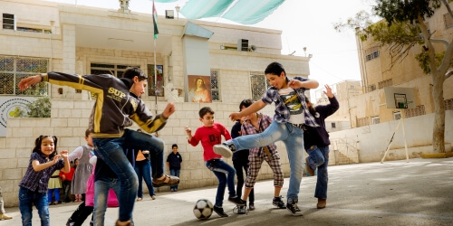 Caritas International En Jordanie, la mise en place de « Child Friendly Spaces », des locaux accueillants pour les enfants