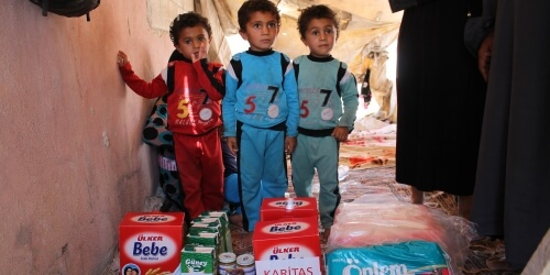 Caritas International België Van alle buurlanden vangt Turkije de meeste Syrische vluchtelingen op: 1,8 miljoen
