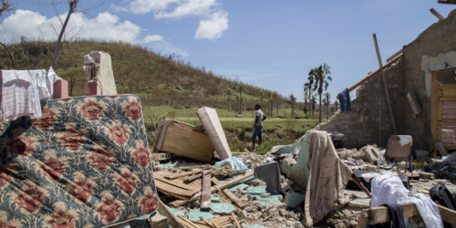 Caritas International Belgique Post-Matthew : après la tempête la reconstruction
