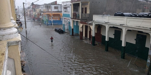 Orkaan Matthew veroorzaakt zware schade in Haïti