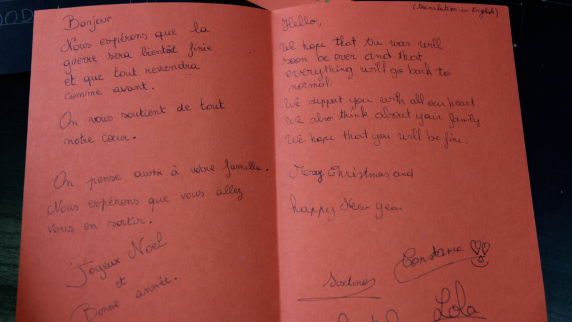 Caritas International Belgique Noël en exil: Des lettres magnifiques sont parties pour le Liban!