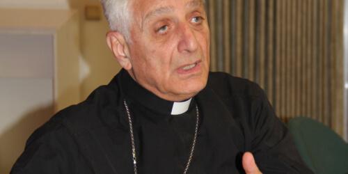 Caritas International Belgium The President of Caritas Syria addresses the European Parliament