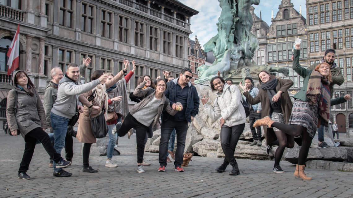 Caritas International België Wereldvluchtelingendag in Antwerpen op 20 juni