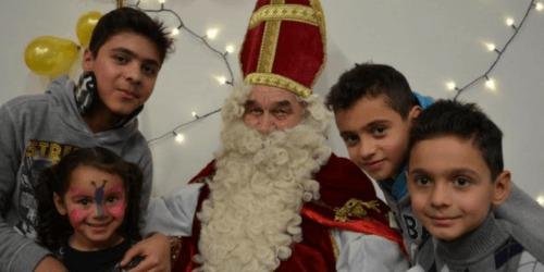 Caritas International België Sinterklaas, ook bij Caritas voor vluchtelingenkinderen