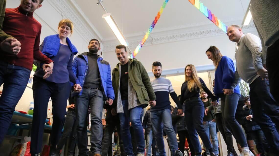 Caritas International België Housing-check: feest in het Antwerpse Housing-café