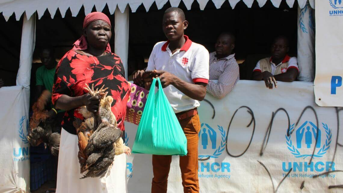 Caritas International Belgium Chickens for a better future in Uganda's refugee settlements