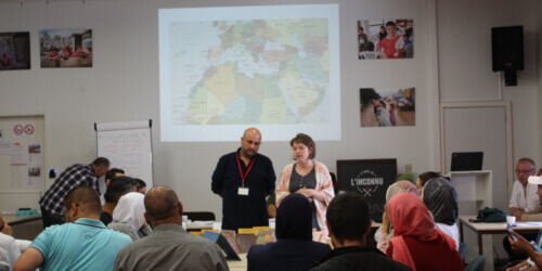 """Caritas International België Collectief atelier voor hervestigde Syriërs: """"We moeten elkaar respecteren."""""""