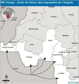 Carte avec les flux migratoires