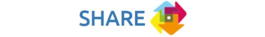 Logo SHARE integratienetwerk: bescherming en verwelkoming van hervestigde en gerelocaliseerde vluchtelingen