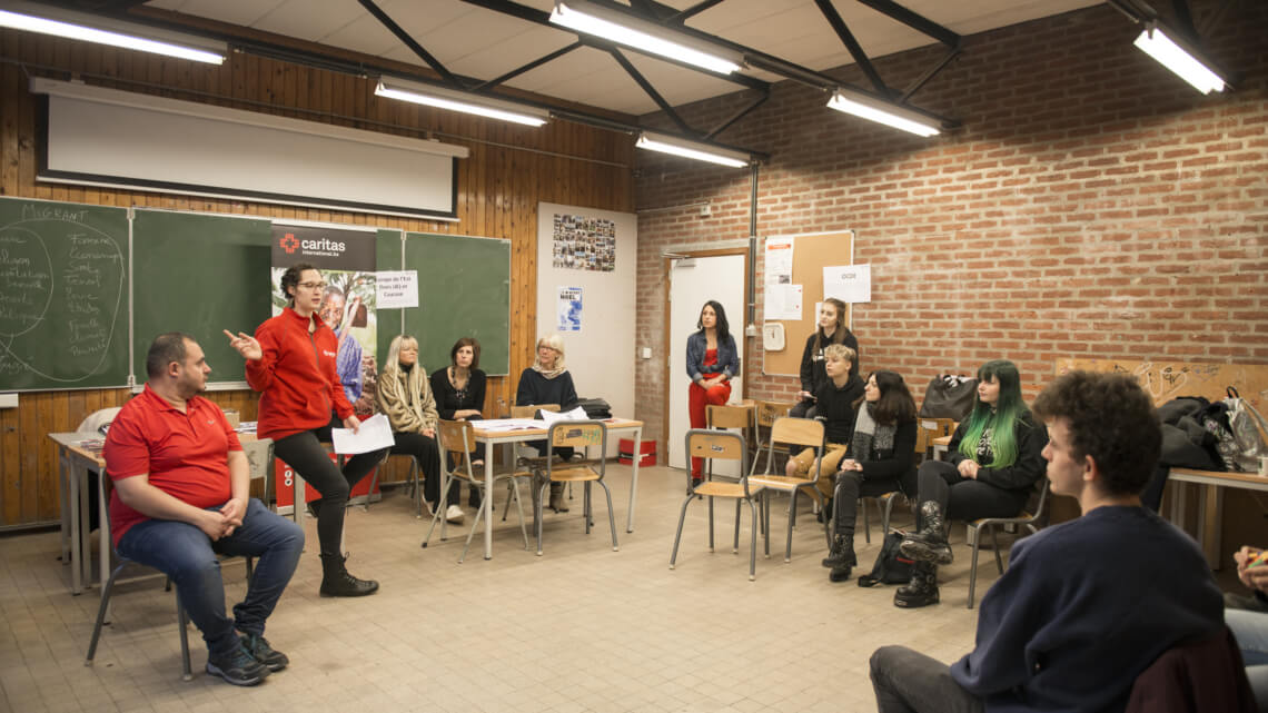 Caritas International België Nieuw schoolproject: My school on the move