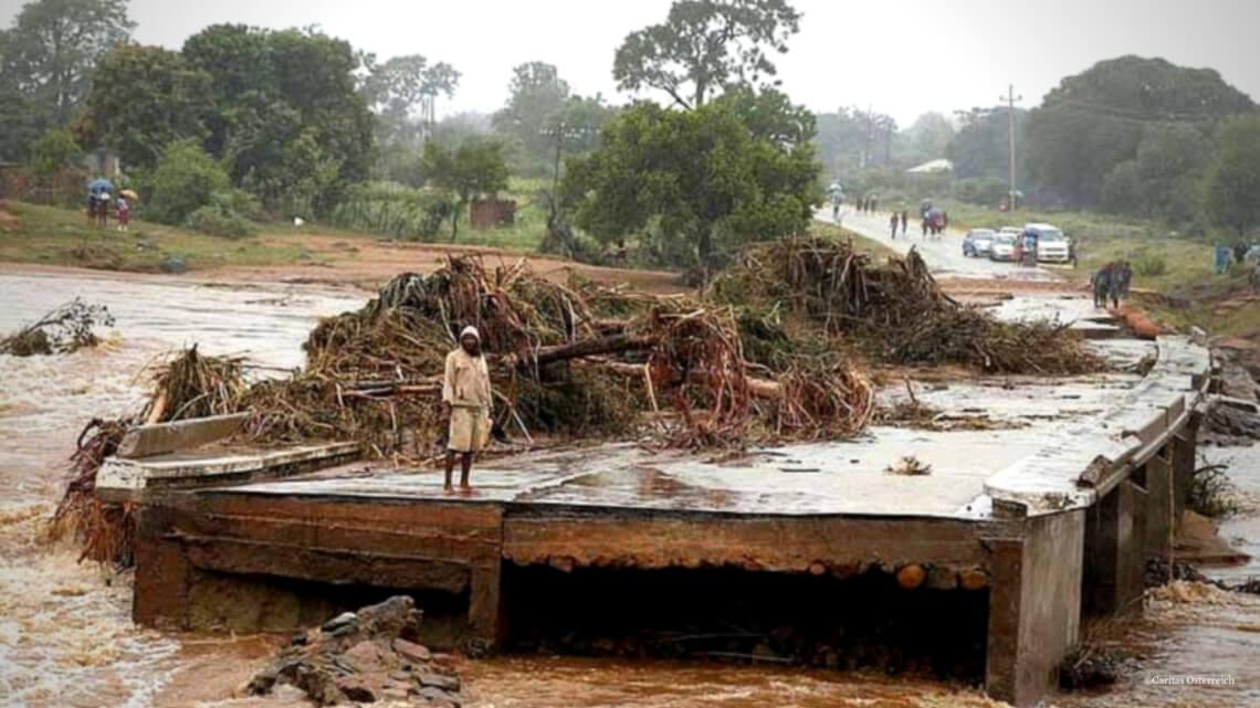 Caritas International België Cycloon Idai verwoest grote delen van Mozambique, Zimbabwe en Malawi