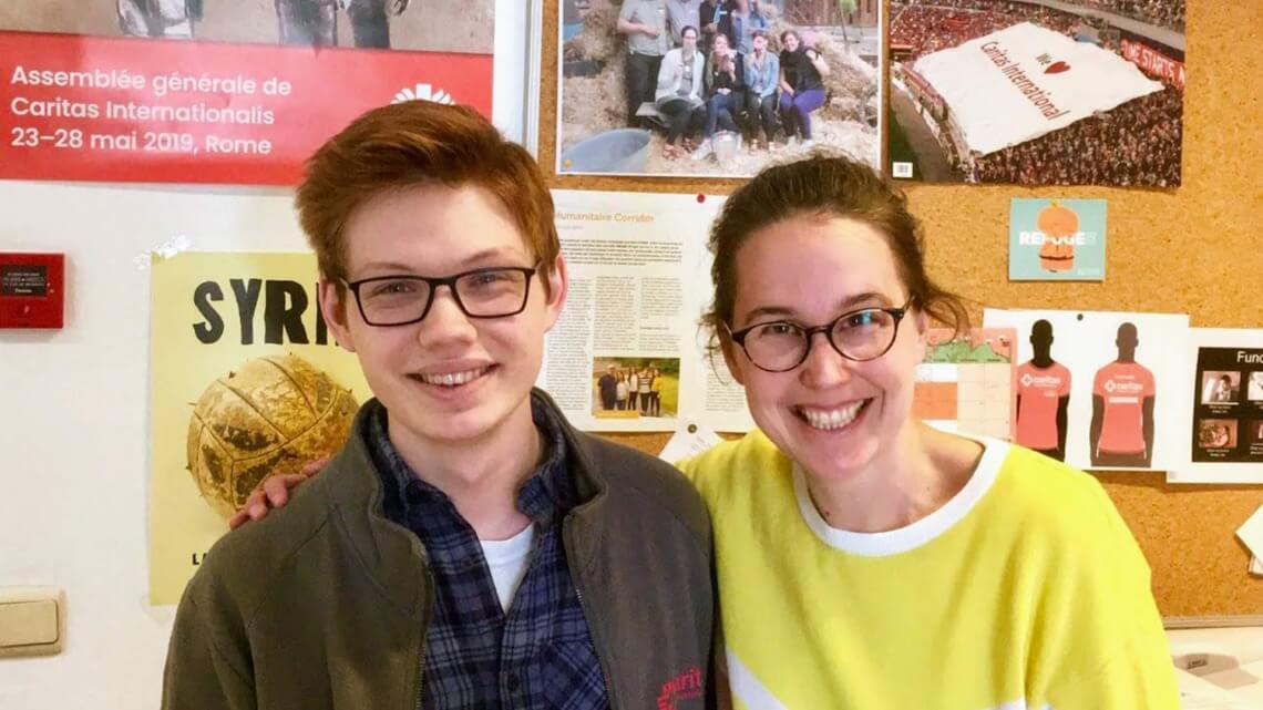 Caritas International Belgique Rencontrez Michael: notre stagiaire américain