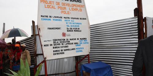 Caritas International Belgique Projet de Développement Local pour l'Emploi (PDLE)