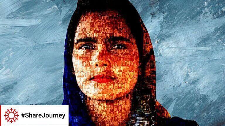 <p>Caritas maakte een collage met duizenden gezichten van migranten, vluchtelingen, sympathisanten… van over de hele wereld. Ze vormen samen het gezicht van Nasrin, die voor Caritas Bangladesh in de Rohingya-vluchtelingenkampen werkt.</p>