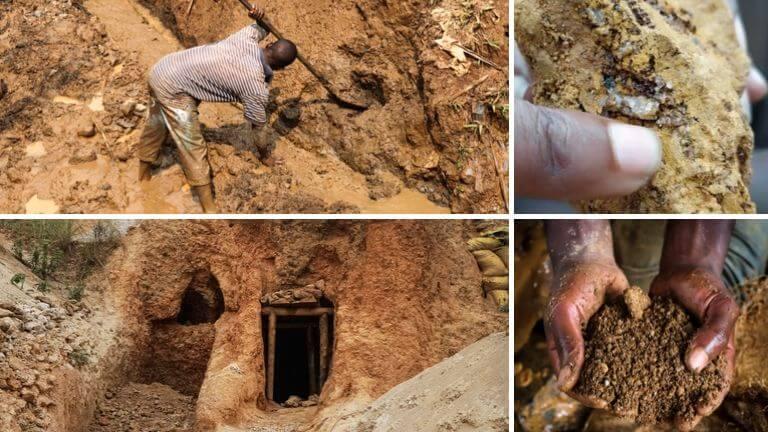 <p>©Justice & Paix – Un million de Congolais survivent grâce à l'exploitation minière artisanale. Ils travaillent dans de piètres conditions et pour un salaire de misère.</p>
