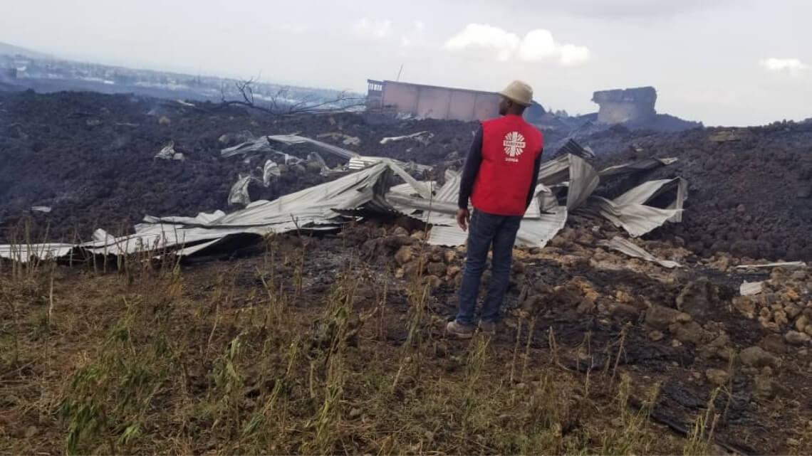 Caritas International Belgique Eruption volcanique à Goma: aide d'urgence aux populations déplacées